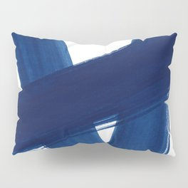 Indigo Abstract Brush Strokes | No. 4 Pillow Sham