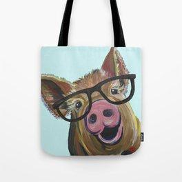 Cute Pig, Pig Art, Farm Animal Tote Bag