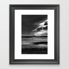Passing Through B and W Framed Art Print
