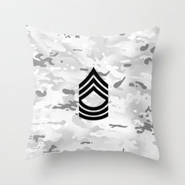 Master Sergeant (Winter Camo) Throw Pillow