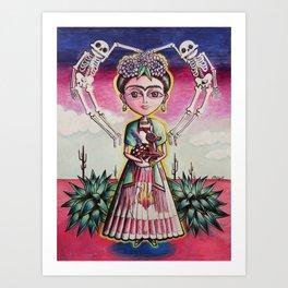 """Frida K."" Art Print"