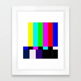 No Signal TV Framed Art Print