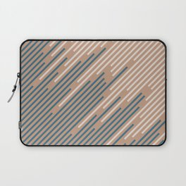 Sandstorm Beige Dark Blue Creamy Off White Lines 2021 Color of The Year Canyon Dusk Accent Shades Laptop Sleeve