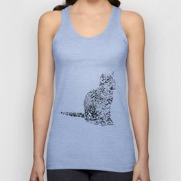 Abstract cats Unisex Tank Top