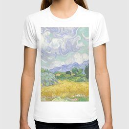 A Wheatfield with Cypresses by Vincent van Gogh T-shirt