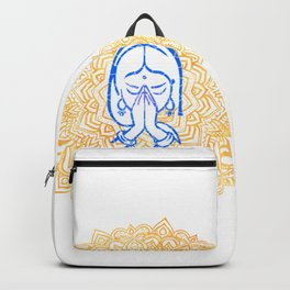 Namaste | Wisdom Flower Mandala Backpack