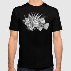 fish mirage black white Black MEDIUM Mens Fitted Tee