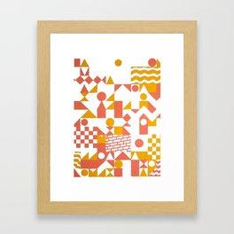 GRID II Framed Art Print