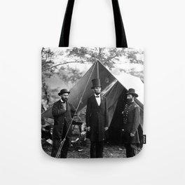 Antietam, Md. Allan Pinkerton, President Lincoln, and Maj. Gen. John A. McClernand Tote Bag