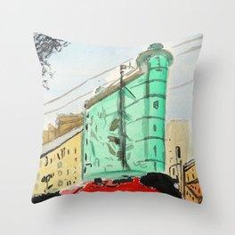 San Francisco Sentinel Building, 1907 Throw Pillow