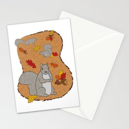 Autumn Squirrel Stationery Cards