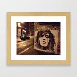 Graffiti Girl Paris Framed Art Print