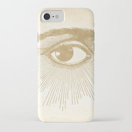 I See You. Vintage Gold Antique Paper iPhone Case