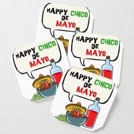 Happy Cinco De Mayo Mexican Fiesta graphic Coaster