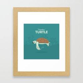 The Sea turtle Framed Art Print