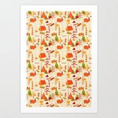 woods pattern Art Print