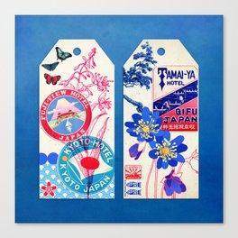 Label Fables, Japan II :: Fine Art Collage Canvas Print