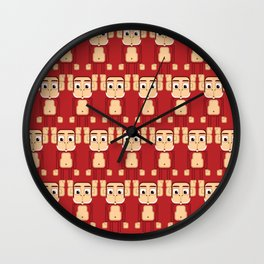 Super cute animals - Cheeky Red Monkey Wall Clock