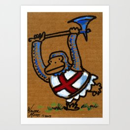 Templar Ape with Axe Art Print
