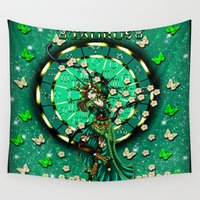 taurus Wall Tapestries featuring Taurus by Lady Amethystine