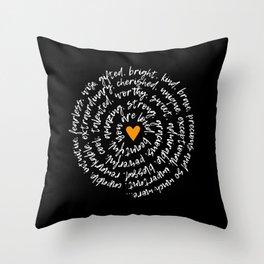 Kindness Spiral Throw Pillow