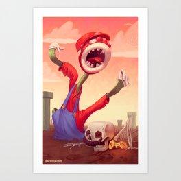 Mario Fail Art Print