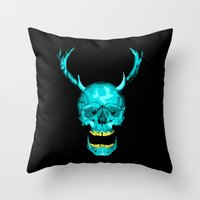 frank Throw Pillows featuring Frank by Josh Mateo