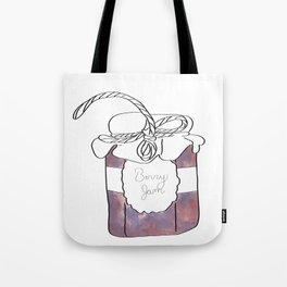 Purple Berry Jam Jar Digital Design Tote Bag