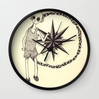 compass Wall Clocks featuring Compass by nu boniglio