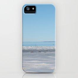 Fond du Lac winter beach iPhone Case