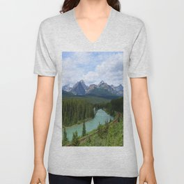 Morant's Curve - Bow Valley Parkway Unisex V-Neck