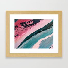 ECHO BEACH BABY   Acrylic abstract art by Natalie Burnett Art Framed Art Print