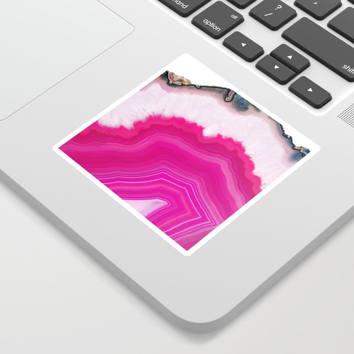 Pink Agate Slice Sticker