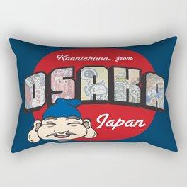Konnichiwa from Osaka, Japan (Dotonbori) Rectangular Pillow