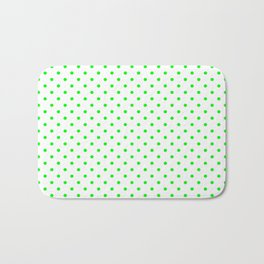 Dots (Green/White) Bath Mat