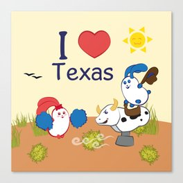 Ernest and Coraline | I love Texas Canvas Print