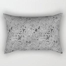 Tattoo Pattern Black and Grey Rectangular Pillow