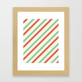 Red And Green Stripes  Framed Art Print