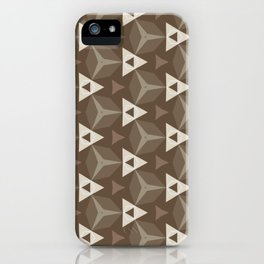 Upleft: digital abstract pattern iPhone Case