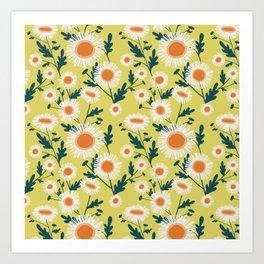 English Daisy-Mustard seed Art Print