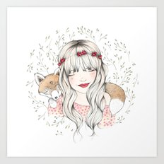 Fox Dreams Art Print