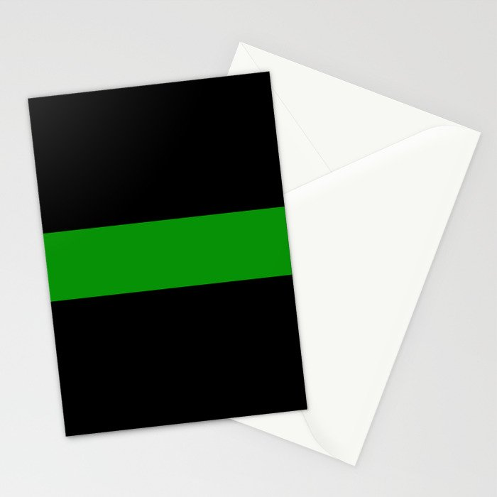 The Thin Green Line Stationery Cards