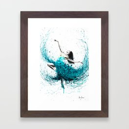 Teal Dancer Framed Art Print