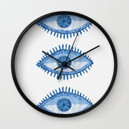Embroidered evil Eyes Wall Clock