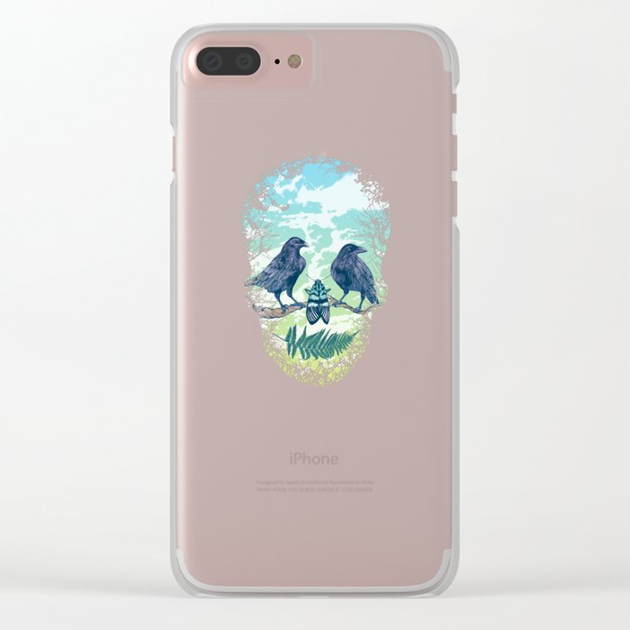 Nature's Skull Clear iPhone Case