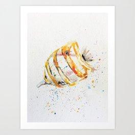 fish watercolor, watercolor, ocean fish, Art Print
