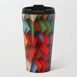 colorful rectangles with shadows Travel Mug