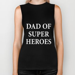 dad of super heroes papa t-shirts Biker Tank