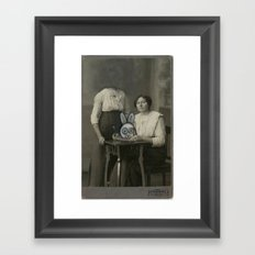 Atered Cabinet Photo - Rabbit Lunch  Framed Art Print