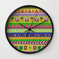 forever young Wall Clocks featuring Forever Young by Bianca Green